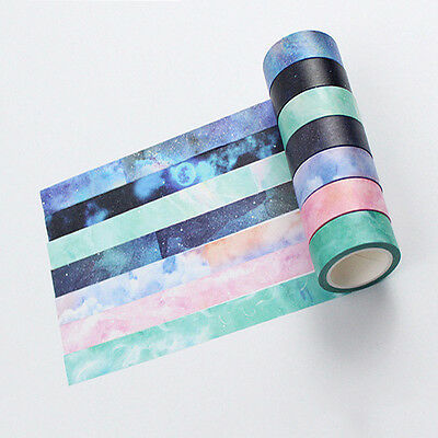8m Decorative Sticky Washi Paper Tape DIY Scrapbooking Masking Craft Tape