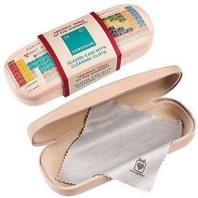 dotcomgiftshop PERIODIC TABLE DESIGN HARDSHELL GLASSES CASE & CLEANING CLOTH