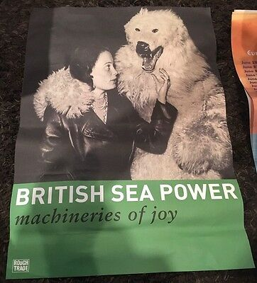 """British Sea Power Poster-27.75""""x19.75"""" Rough Trade Promotion Poster"""