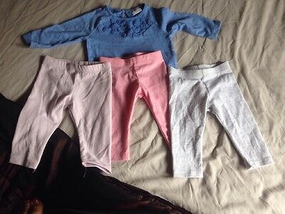 Baby Girl Top And Leggings X3 0-3 Months