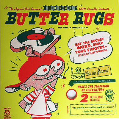 "Qbert Butter Rugs Version 3.0 12"" Slipmats (white, pair) DJ Thud Rumble Scratch"