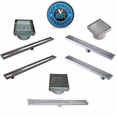 All Sizes & Patterns Of Stainless Steel Shower Grate Long Linear Waste Drain AAA
