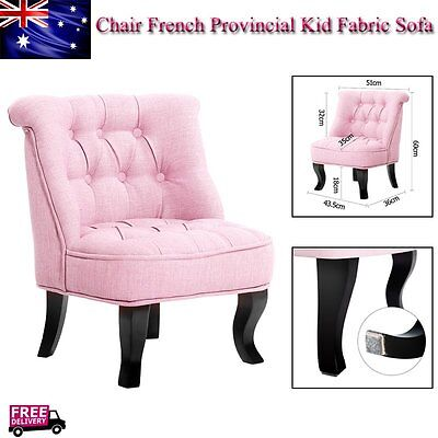 Kids Children Chair French Provincial Fabric Sofa Misty Pink Furniture Seat Wood