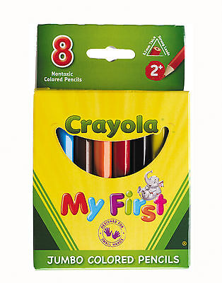 Crayola My First Half Size Jumbo Colored Pencils-Pack of 8