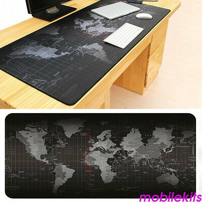 80x30cm/90x40cm Large Non-Slip World Map Game Mouse Pad Mat For Laptop Keyboard