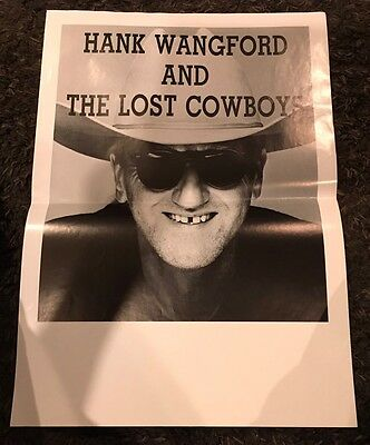 "HANK WANGFORD 23x16.5"" Inch Black And White POSTER"