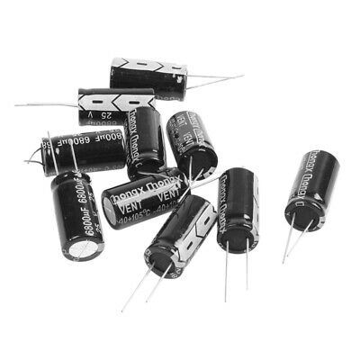 10 Pcs 16mm x 30mm 6800UF 25V Polarized Radial Electrolytic Capacitor