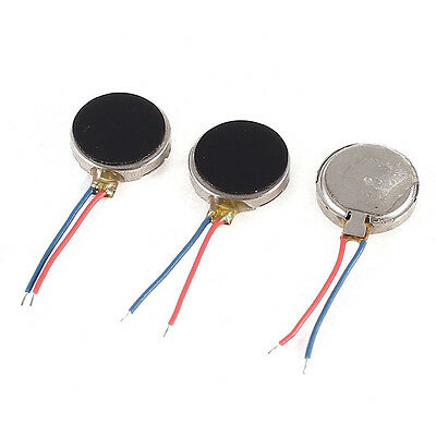 3 pieces 3 V DC 2 Leads 10mm x 2.7mm coins phone vibration motor