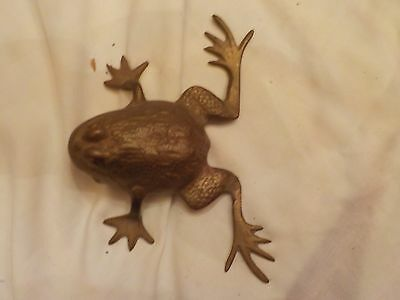 Vintage Solid Brass Frog Made In India