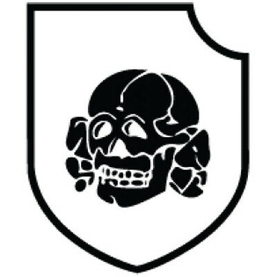 Totenkopf Vinyl Car I Pad Laptop Window Wall Bumper Sticker Auto