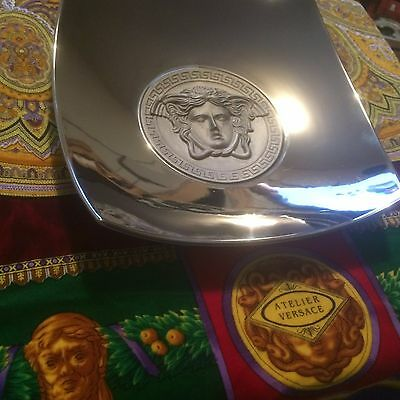 Versace Rosenthal Medusa Platnuim 22Cm Candy Dish Boxed And Carded
