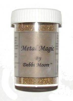 Debbi Moore Embossingpulver Metal Magic Gold 34 g, Glitzer Staub Glitzerpulver