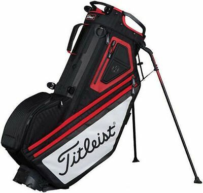 Titleist Players 14 Way Standbag, black/white/red