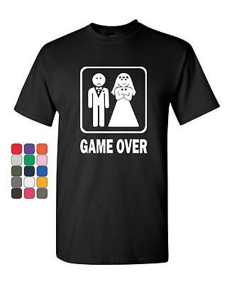 Game Over Funny T-Shirt Groom And Bride Wedding Tee Shirt