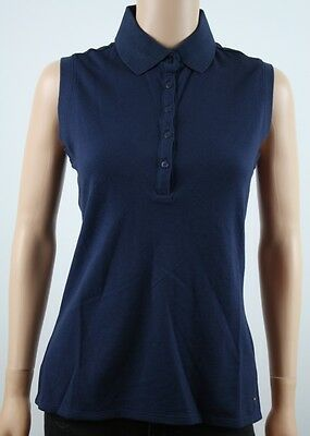 Tommy Hilfiger Golf Navy Sleeveless Polo Shirt - M