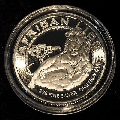 Gem Bu 2017 Niue 1 Oz. Silver African Lion With Capsule - New Zealand Mint