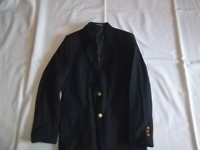 Boys CHAPS Navy 8% Wool BLAZER JACKET Size 14 R Regular Dress Suit Coat