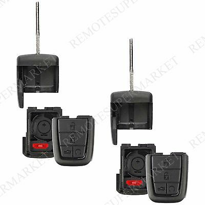 2 Replacement for Pontiac 2008-2009 G8 Remote Fob Key Entry Shell Case Pad