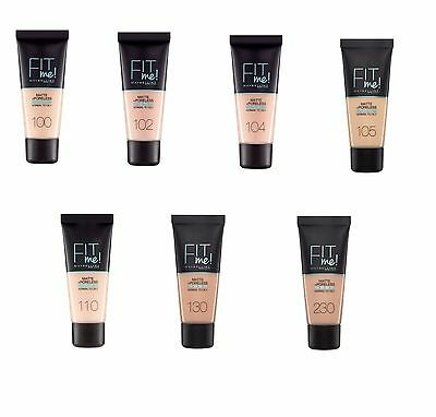 Maybelline Fit Me Foundation Matte Poreless 30ml Various Shades Free P&P UK 30ml