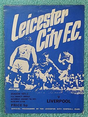 1971 - CHARITY SHIELD PROGRAMME - LEICESTER CITY v LIVERPOOL