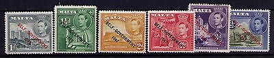 "Malta ""Self-Government 1917"" Red Ovpt ,SC# 235-40 Cpl. MNH Set"