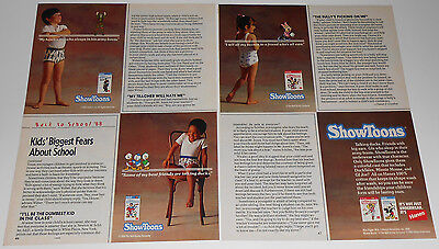 1988 vintage ad - HANES SHOWTOONS KIDS GIRLS UNDERWEAR - 2-PAGE PRINT ADVERT