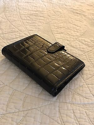 Filofax Genuine Alligator Black  Planner/ Organizer Excellent Condition