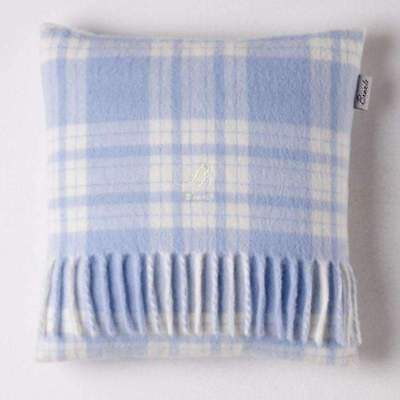 Bronte Baby Cushion - Menzies Check Blue/White