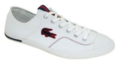 d9455a14ba61 LACOSTE GRADUATE VULC Canvas Sneakers   7-27SPM1249144 Navy Men SZ 7 ...