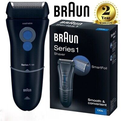 Braun 130s Series 1 Electric Mains Powered Shaver Washable Head Mens Foil Shaver