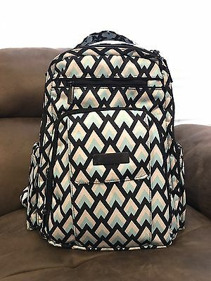 Ju Ju Be Onyx BE RIGHT BACK Backpack Baby Diaper Bag BLACK DIAMOND GUC