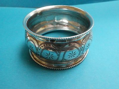 A very nice French Art Nouveau era solid silver napkin ring.