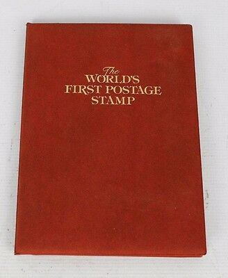 1840 Penny Black Stamp World's First Stamp Postmarked Condition COA & Display