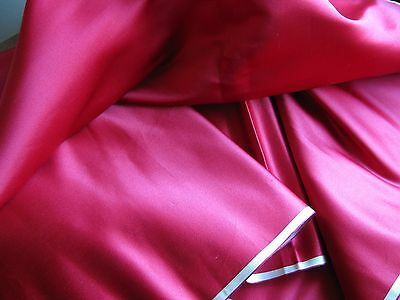 Satin  100% Silk Vintage Luxury Fabric Estate Find Cherry RED Rich Look 2 3/4 yd