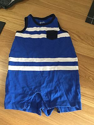 Set Of 3 Baby Boys Vest Rompers From Baby Gap Size 6-12 Months