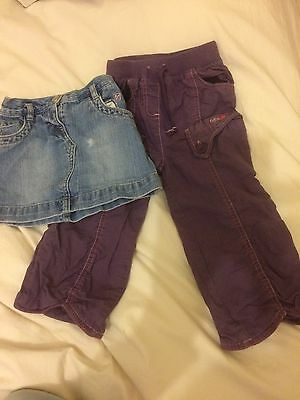 Baby Girl Trousers And Skirt Age 18-24 Months