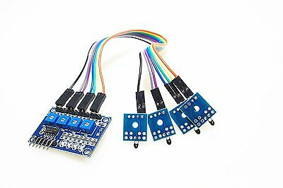 SMAKN® DC 3.5-12V 2 Channel 4-Way NTC Thermistor Sensor Module