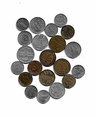 Germany: Mixed Lot of 20 Germans Coins from 1921-1985