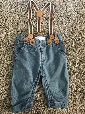 Zara Baby Boys Trousers With Braces 6-9 Months