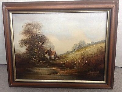 John Horsewell Oil Painting Of A Country Cottage / Landscape