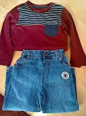 boys top and jeans 18-24 months