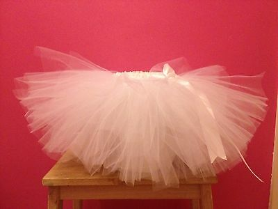 White Tulle Tutu. 6-18 Months. Cake Smash Outfit