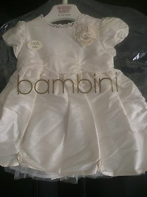 Baby Girls Silk Dress Bambini BHS New Size 0-3 Months