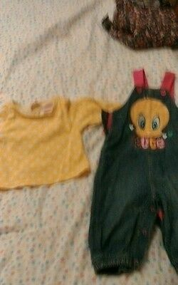 Baby girl dungarees 3-6 months with t~shirt