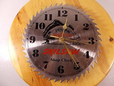 "Vtg Sears Roebuck And Co Craftsman Shop Clock Real Carbide 10"" Steel Saw Blade"