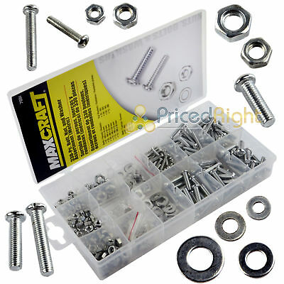 330 Pc Bolt Nut and Washer Assortment Metric Maxcraft 7694 Washers Bolts Nuts