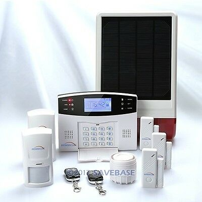 HOMSECUR GSM SMS Home Alarm System+ Solar Powered External Wireless Strobe Siren