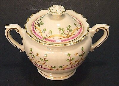 SUGAR BOWL WiTH LiD FEDERAL SHAPE SYRACUSE CHiNA USA PENDLETON PATTERN