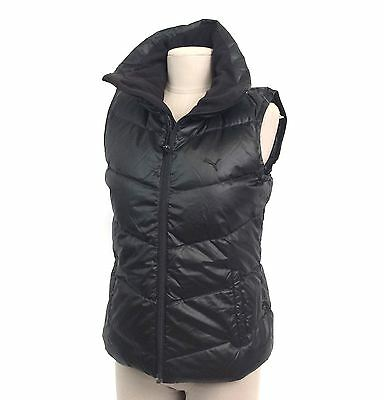 New ❤️ PUMA ❤️ Black Quilted-Padded Women's Vest Size. SMALL - Zipper Down Vest