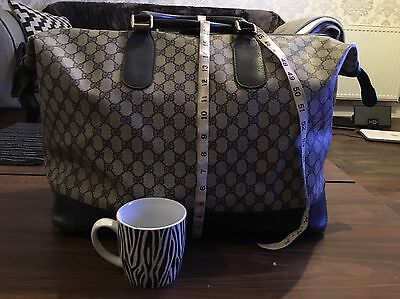 Gucci Vintage Original Large Holdall - Over 30 Years Old Good Price As Has Wear